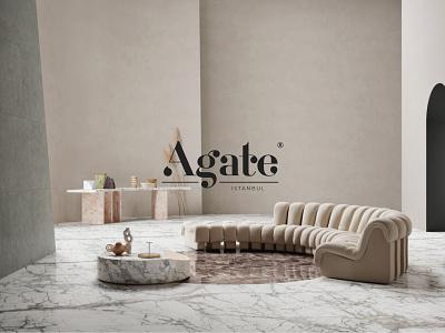 Agate Istanbul - Marble Design graphic design brand modern logo design logo interior agate istanbul marble marble design graphic design logodesign minimal idea rebrand identity concept typography branding design graphic