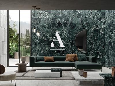 Agate Istanbul - Marble Design logodesigns bold font art concept design agateistanbul marble a letter logo bold logodesign minimal graphic design branding typography idea concept identity rebrand illustration logo