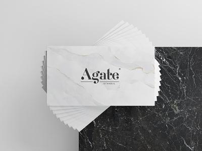 Agate Istanbul - Branding modern art direction marble design marble card business card corporate identity arte art logo logodesign minimal idea rebrand identity concept typography branding design graphic