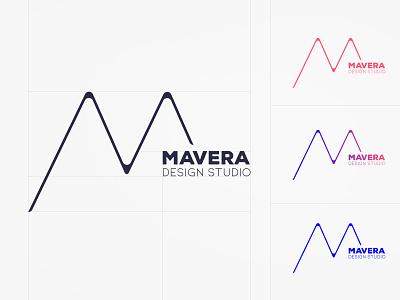 Mavera Logo Design design studio color cmyk rgb art design art emblem logotype m letter logo logodesign minimal idea rebrand identity concept typography branding design graphic