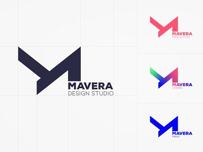Mavera Logo Design print cmyk rgb colors artwork art heavy font bold emblem logo logodesign minimal idea rebrand identity concept typography branding design graphic