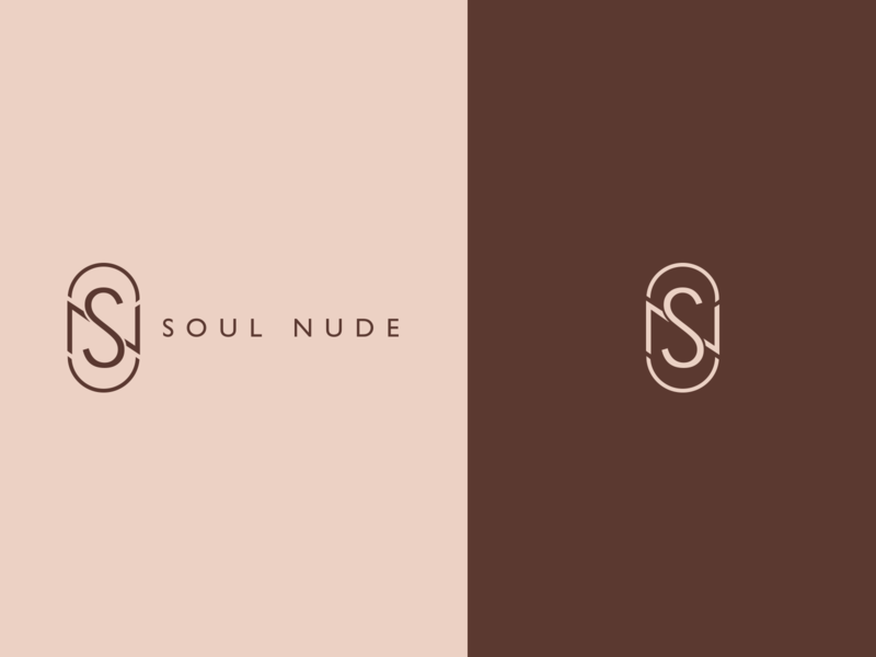 SOUL NUDE MAKEUP visual identity logotype logo graphicdesign design