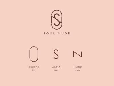 SOUL NUDE MAKEUP visual identity logotype logo graphicdesign design