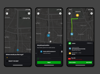 Gojek Dark Mode