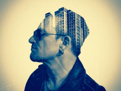 U2 - Bono Dublin Portrait