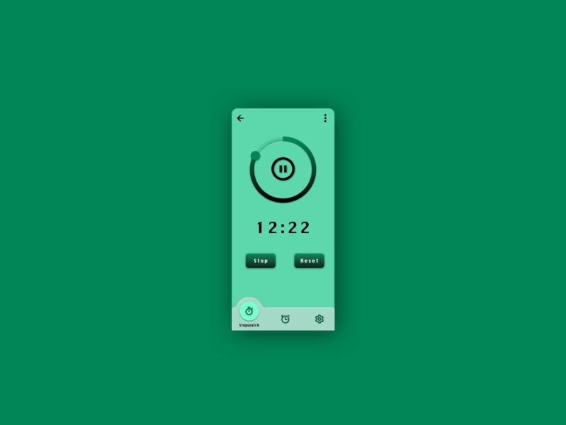 Daily UI Challenge #14 dailyui014 alarm stopwatch timer ux gradient typography design dailyui