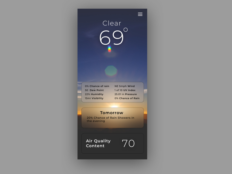 Daily UI Challenge #37 Weather dailyui037 weatherapp weather ux ui typography design dailyui