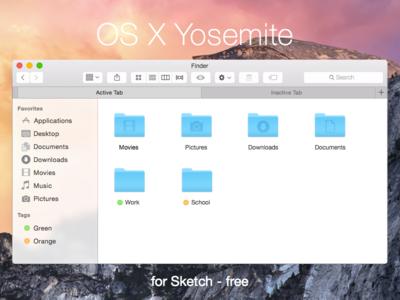Yosemite for Sketch ui interface yosemite os x sketch download freebie