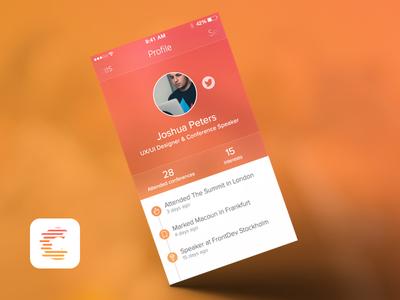Profile Confff profile app conference