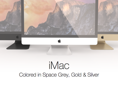 iMac colored imac apple mac space grey silver gold