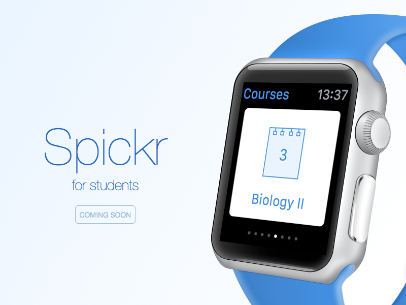 Spickr Watch watch apple app student