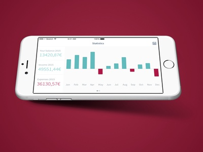 Mockup Finesse Statistics bank money dashboard finance charts fintech
