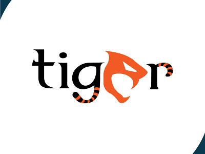 tiger logo logodesign wordmark icon typography ui design art vector logo illustration flat design branding art