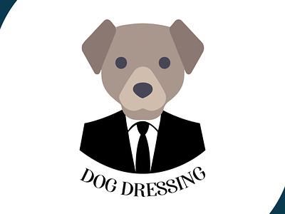 dog dressing brand design logodesign dog logo brand dog icon ui design art vector logo illustration flat design branding art