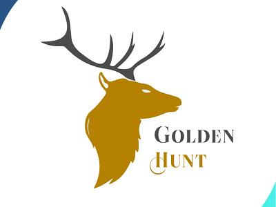 golden hunt cmprojects deer logo logodesign gold deer hunt visual identity visual design visual art visual icon brand design art vector logo illustration flat design branding art