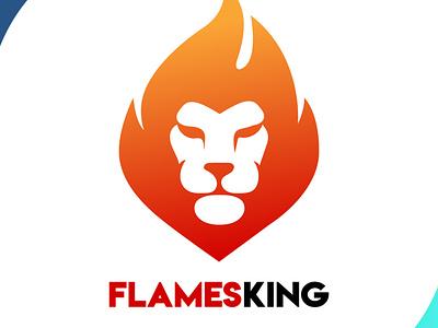 LionFlames fireart fire creative design creative lion brand mascot design design art vector logo illustration flat design branding art
