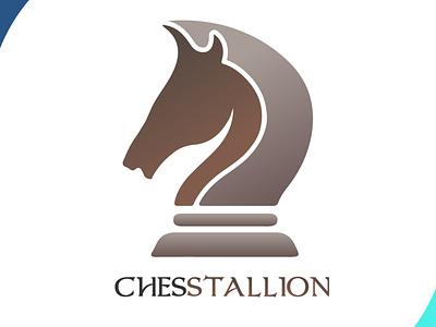 chesstallion designspiration chess horse logo horse icon brand mascot design design art vector logo illustration flat design branding art