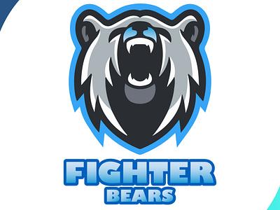 Fighterbears artistic fighter bear logo bear logodesign esportlogo esports team logo icon mascot design brand design art vector logo illustration flat design branding art