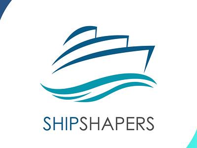 Shipshapers visual identity visualdesign blue sea logodesign iconography icons shapers ship icon visual design brand design art vector logo illustration flat design branding art