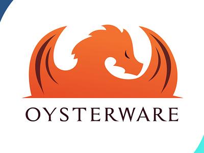 Oysterware orange oysterware flames brand identity brand design vector illustration logodesign dragon icon brand design art vector logo illustration flat design branding art