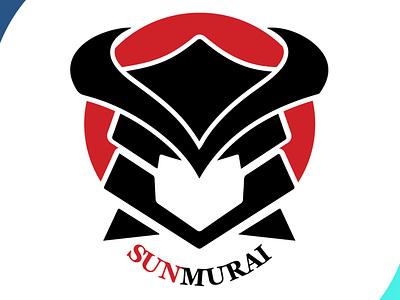 sunmurai cool brand identity brand design designs vector illustration sunset sun samurai mascot design icon brand design art vector logo illustration flat design branding art