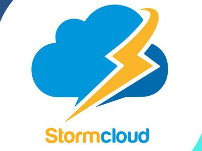 stormcloud symbol blue stormcloud cloud storm logodesign brand identity mascot design icon brand design art vector logo illustration flat design branding art