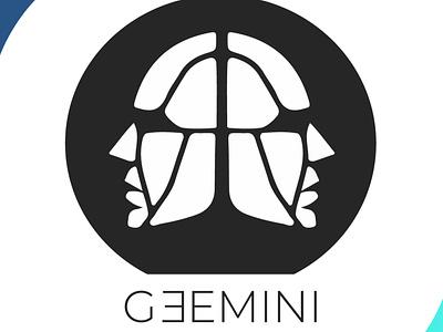 gemini aesthetic blackandwhite logodesign gemini brand identity brand icon design art vector logo illustration flat design branding art