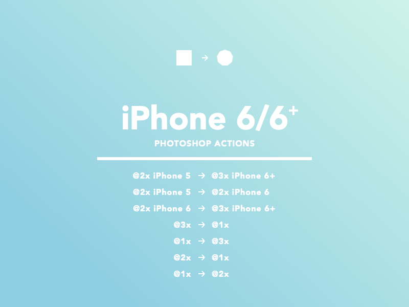 Photoshop Actions for iOS photoshop action photoshop ios iphone iphone 6 iphone 6 plus design workflow actions download