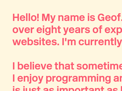 Portfolio Preview copywriting text update colors portfolio