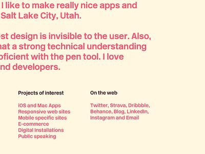 Portfolio Preview 9 copywriting text update colors portfolio