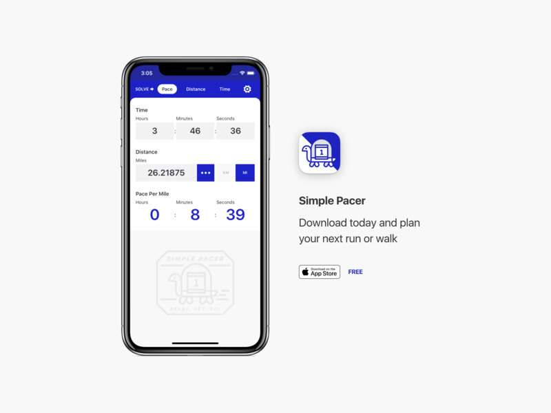 Introducing Simple Pacer! running run interaction design themes ui colors app ios