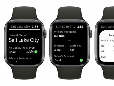Air Lookout: Apple WatchOS App vizualization sparkline apple watch watchos ios