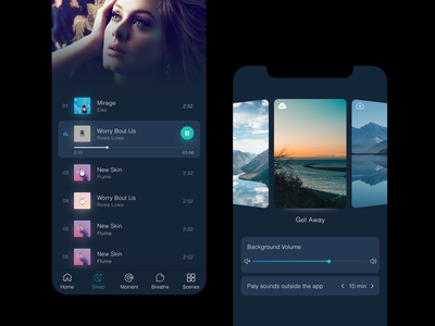 Music App app ui