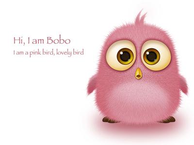 A lovely Bird-3D character