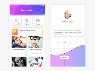 Music ui app