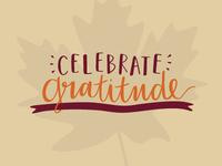 Celebrate gratitude