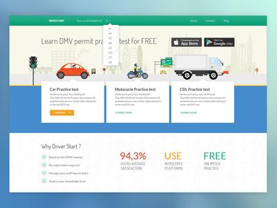 DMV service web page