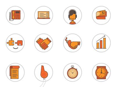 Orange sweet Icons