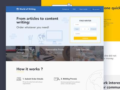 Website for custom paper writing service.