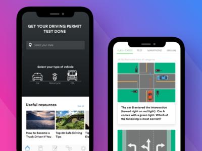 Driver Permit Test App