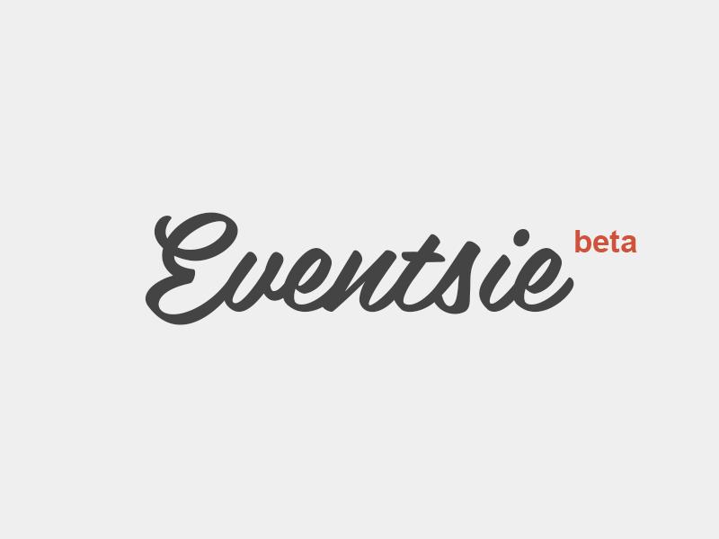 Eventsie Logo branding design flat orange gigs music illustration logo vector typography minimal script