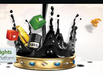 oil baner splashes oil stocks forex crown