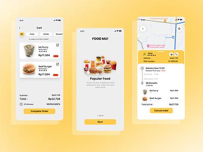 UI Food Mu! App (2) figma logo ui design