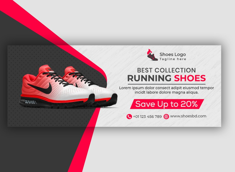 Awesome Looking Shoes Sale Facebook Banner Design