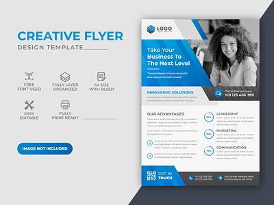 Corporate Blue Color Scheme Business Flyer Design Template graphic design promotion flyer business brand identity brand design corporate commercial corporate flyer