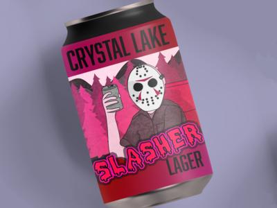 Friday the 13th Beer Can Artwork horror mockup design artwork can beer mockup