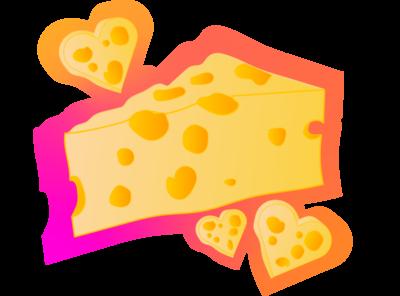 Cheesy Love Sticker Design