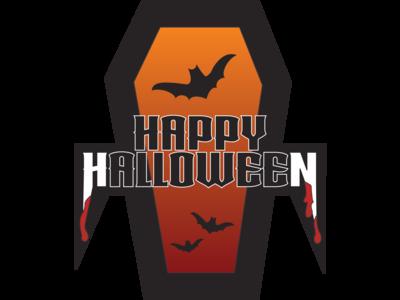 Happy Halloween Dracula sticker design