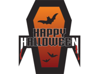Happy Halloween Dracula sticker design