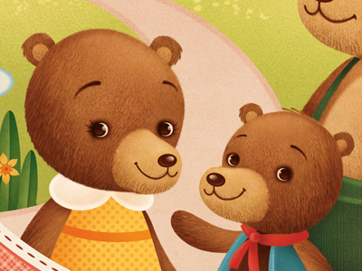 Mama Bear and Baby Bear illustration childrens illustration gaia bordicchia picture book storybook fable fairytale